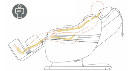 massaggio corpo intero con cuscini aria per Inada Sogno