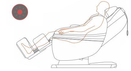 Programma massaggio per la attina con la poltrona massaggiante Inada Sogno