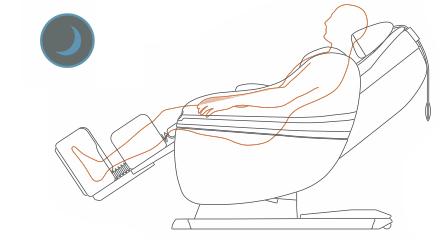 Programma massaggio per la sera con la poltrona massaggiante Inada Sogno