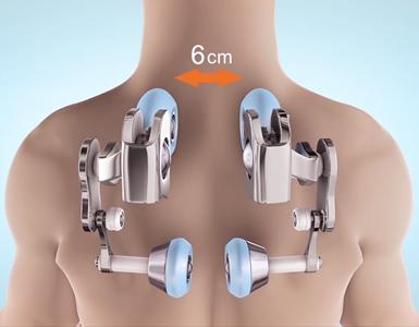 Fascio massaggio alla schiena alla poltrona Komoder KM500L