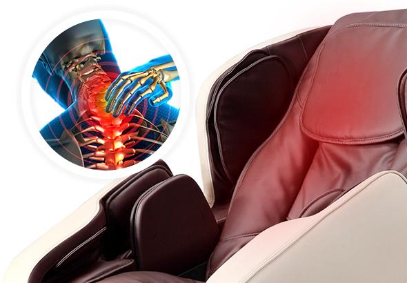 riscaldamento alla schiena per la poltrona da massaggio Komoder KM500L