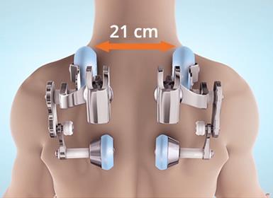 Regolarzione larghezza per la schiena
