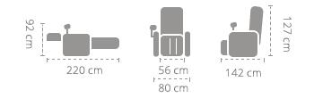 Dimensioni Komoder KM7800