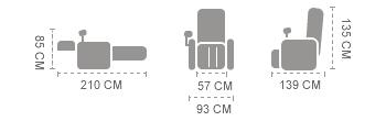 dimensioni poltrona iRest a33