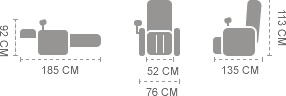 Dimensioni Komoder sl a38