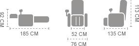 Dimensioni iRest sl a38