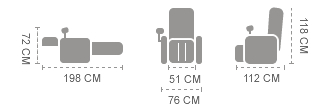 dimensioni poltrona Komoder 55-1