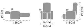 dimensione poltrona Komoder T101